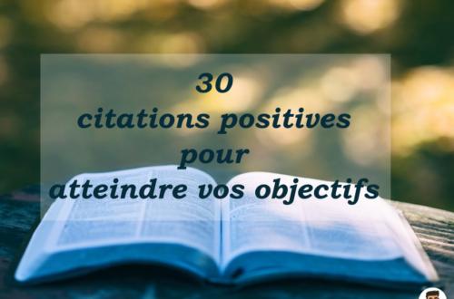 30 citations postivie motivation
